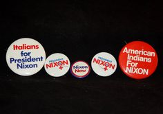 Nixon Campaign Pinbacks by CraftedandCherished on Etsy, $10.00