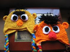 Sesame Street Bert and Ernie or Elmo Inspired Hats for baby Photo Prop Photography Prop. $15.00, via Etsy.