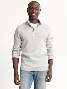 Tipped four-snap pullover from Banana Republic