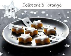 Les calissons étoiles à l'orange et au gingembre