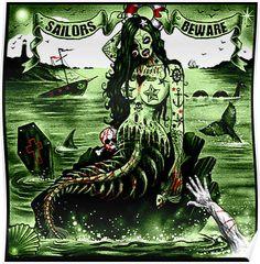 Badness zombie mermaid