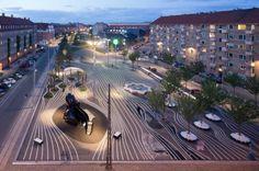 Mooi stadspark in Denemarken