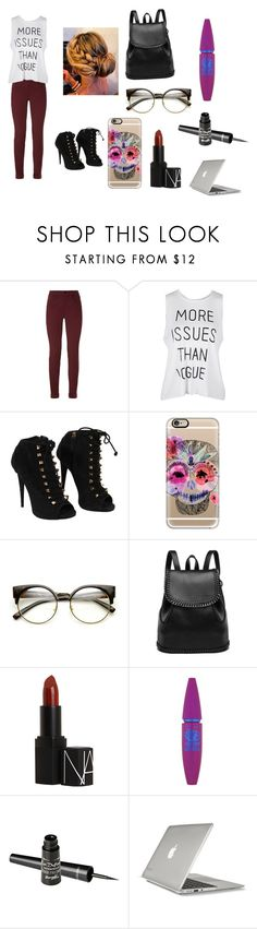 """Untitled #86"" by chloe950 ❤ liked on Polyvore featuring J Brand, Giuseppe Zanotti, Casetify, NARS Cosmetics, Maybelline, Barry M and Speck"