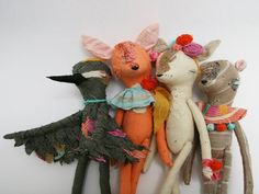 adorable fabric scrap animals