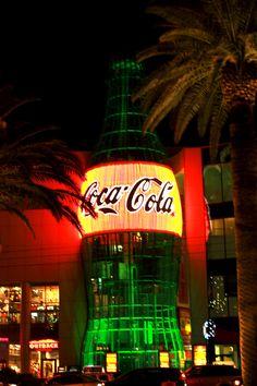 The biggest coke I've ever seen! Las Vegas Blvd, Coke, Neon Signs, Cola, Coca Cola