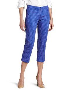 Calvin Klein Women`s Printed Crop Trouser $69.50