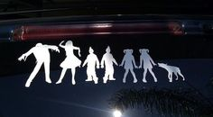 Zombie decals. I'll use these like decorations for the party.