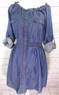 614cc664b8c0c Lane bryant blue jean dress spring summer plus size 14