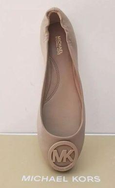 8c73de5f6 Michael Kors Lindsay Logo Butter Soft Comfy Leather Ballet Flat Beige Size  8  fashion  clothing  shoes  accessories  womensshoes  flats (ebay link)