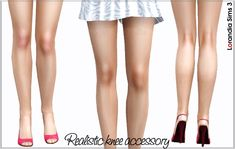 Realistic red knee by Lore at Lorandia Sims 3