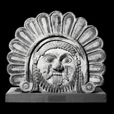 Terracotta antefix of a Gorgon's head  Italian, about 500 BC From Capua in Campania, Italy