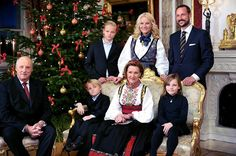 Christmas with the Norwegian royal family.