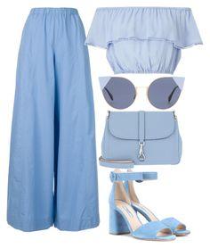 """Anything is blue"" by valentinapetrova on Polyvore featuring Erika Cavallini Semi-Couture, Miss Selfridge, Fendi, Bogner and Prada"