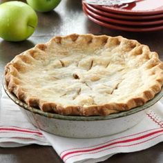 Washington State Apple Pie Recipe from Taste of Home - This pie won Grand Champion in the Apple Pie category at the 1992 Okanogan County Fair. Submitted by Dolores Scholz of Tonasket, Washington.