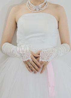 Ivory Below Elbow Length Satin Wedding Bridal Fingerless Gloves Zentai Suit, Homecoming Dresses, Wedding Dresses, Wedding Gloves, Lolita Dress, Wedding Accessories, Fingerless Gloves, Cosplay Costumes, One Shoulder Wedding Dress