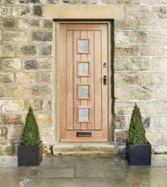 External Dordogne Oak glazed door - HOWDENS