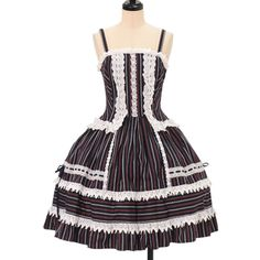 ♡ ALICE and the PIRATES ♡ Stripe Miranda jumper skirt http://www.wunderwelt.jp/products/detail9953.html ☆ ·.. · ° ☆ How to order ☆ ·.. · ° ☆ http://www.wunderwelt.jp/user_data/shoppingguide-eng ☆ ·.. · ☆ Japanese Vintage Lolita clothing shop Wunderwelt ☆ ·.. · ☆