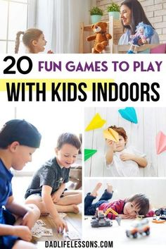 Staying inside doesn't have to be boring! Check out these 20 Fun Games To Play With Kids Indoors! Perfect for those rainy days stuck inside. These games have been a lifesaver for me recently and I hope they help you as well. From card games to couch obstacle courses, there's something for everyone at any age. So, the next time you are stuck inside remember these 20 Fun Games To Play With Kids Indoors.#indoorgameideas #indoorfun Games To Play With Kids, Indoor Activities For Kids, Toddler Activities, Fun Activities, Holiday Activities, Family Fun Night, All Family, Kids And Parenting, Parenting Hacks