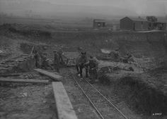 Circa 1880 (Date Unknown). British Columbia, Canada. Appoximately 10 Chinese workers and a horse working on building the Candian Pacific Railway. To help speed up the building of the Canadian Pacific Railway, Chinese workers were imported to work in the railroad, doing the more dangerous work such as blasting rocks with explosives. They were also paid a lot less than the white workers. -Richard Canadian Pacific Railway, Virtual Museum, British Columbia, Social Studies, Trains, Rocks, Chinese, Canada, Science