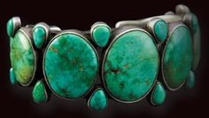 Every woman needs a quality turquoise or natural stone cuff and necklace that will raise the level of any ensemble. Navajo Turquoise and Silver Bracelet, c. 1910.