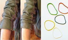 truque de estilo pra manter mangas puxadinhas no lugar (lá no cotovelo!) o dia inteiro sem cair!! no blog da Oficina :: www.oficinadeestilo.com.br/blog/manga…
