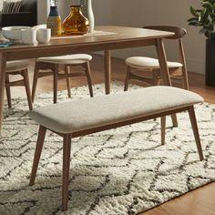 MID-CENTURY LIVING Norwegian Danish Modern Tapered Upholstered Bench
