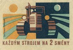 czechoslovakian matchbox label on Flickr - Photo Sharing!