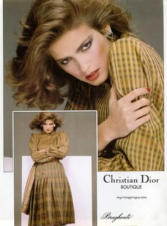 Gia Carangi photographed by Denis Piel for Dior, 1980 Gia Carangi, 90s Models, Fashion Models, Runway Fashion, Fashion Trends, Vintage Vogue, Vintage Fashion, Vintage Dior, Vintage Clothing