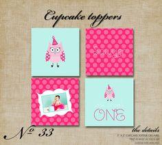 Printable Owl Cupcake Toppers
