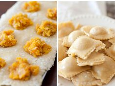 Butternut squash ravioli with sage & brown butter- my favorite thing
