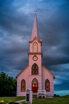 Lutheran Church in Manning, Iowa - late evening Abandoned Churches, Old Churches, Wedding Tips, Wedding Attire, Wedding Ceremony, Bridal Tips, Wedding Outfits, Wedding Dresses, Church Pictures