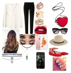 """""""My valentines Outfit"""" by lisavelle ❤ liked on Polyvore featuring Lipsy, The Kooples, H&M, Whistles, Shaun Leane, Glenda López, Alexander McQueen, Wet Seal, Victoria's Secret and women's clothing"""