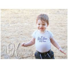 All God's Grace in this Tiny Face - Baby Shower Gift / Snap One Piece for boys
