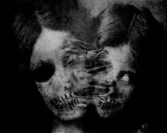 dark art - really really make your house terrifying with this kind of print hanging in ornate but aged frame