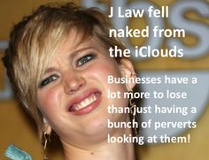 J Law (Jennifer Lawrence). iCloud.