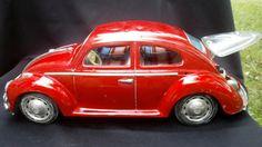 "Vintage working 1960's Bandai Kingsize Volkswagon VW beetle ""Bump& GO"" tin toy battery opperated RARE! by GarysAtticTreasure on Etsy"
