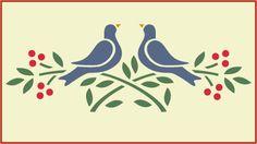 love stencil | Love Bird Stencil Pic #20