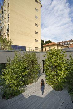 Since 1998 the Web Atlas of Contemporary Architecture Public, Contemporary Architecture, Garage Doors, Sidewalk, Italy, Studio, Outdoor Decor, Palermo, Place