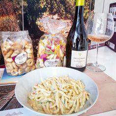Trofie cremose con gamberetti.. www.jo-le.com