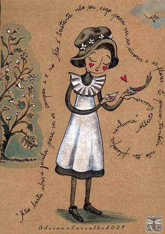 Cecília Meireles menina antiga by Arte Voadeira, via Flickr - poema de Fernando Pessoa