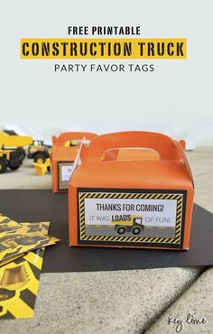 Construction Party Printables - Free Download - Perfect for Little Boys birthday parties!!