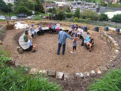 I really like this outdoor classroom design