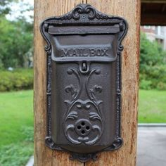 Cheap Mailboxes, Buy Directly from China Suppliers:Retro Style Waterproof Newspaper Letter Mailbox Postbox Post Cse Box Cast Iron Vintage Pastoral  Home Wall Mounted Mailbox Enjoy ✓Free Shipping Worldwide! ✓Limited Time Sale✓Easy Return.