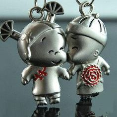 Stainless Steel Couple Key Chain