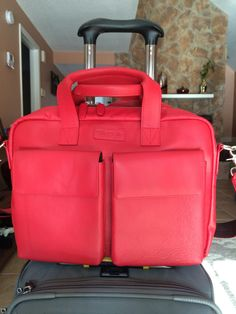 New sexy red TaboLap laptop leather bag