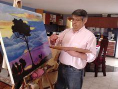 El artista en su labor