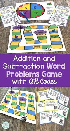 10 Reasons You Should Use Games in the Classroom. Addition and subtraction word problems games to help build math fact fluency. These use QR codes to increase engagement and independence in math for 1st and 2nd grade. - Create Dream Explore