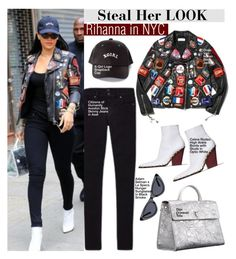 """""""Rihanna in NYC"""" by swweetalexutza ❤ liked on Polyvore featuring Citizens of Humanity, look, celebrity, Stealherstyle and Rihanna"""