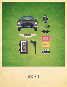 007 Kit Minimalist Poster by Alizée Lafon