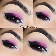 sultry hot pink smokey eyes